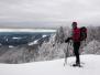 Raquettes à neige dans le massif vosgien des ballons comtois