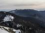 En hiver, dans les Vosges, sur des raquettes